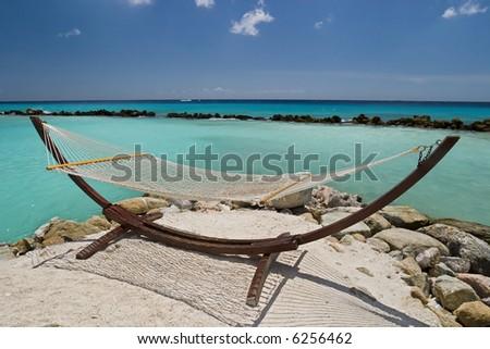 Caribbean Hammock - stock photo