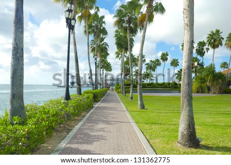 Caribbean landscape - stock photo
