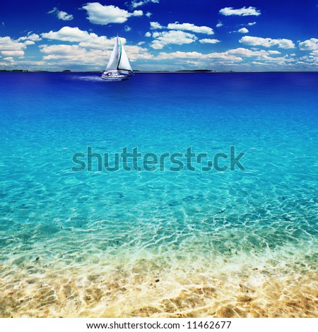 caribbean paradise - stock photo