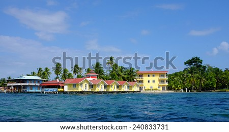 Caribbean resort on the Ocean - stock photo