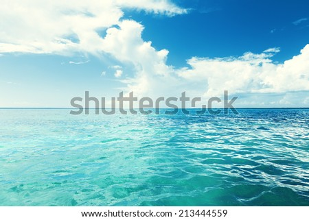 Caribbean sea and perfect sky