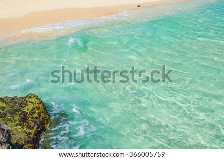 Caribbean Sea scenery in Playa del Carmen, Yucatan, Mexico  - stock photo