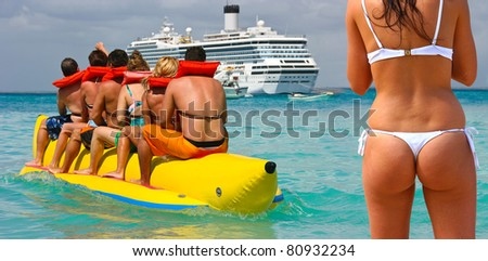 Caribbean vacation - stock photo