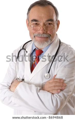 Caring doctor smiling