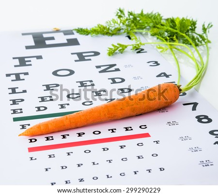 Caring for eye sight by healthy eating - stock photo