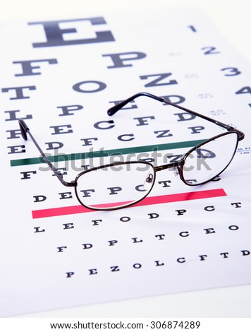 Caring for eye sight by proper glasses - stock photo
