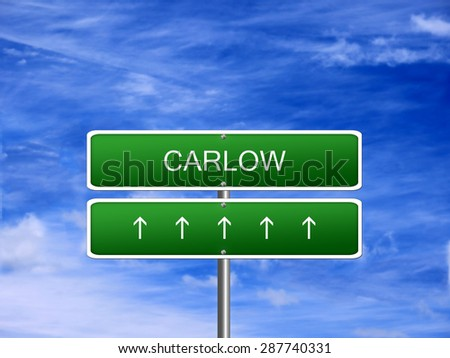 Carlow city Ireland tourism Eire welcome icon sign. - stock photo