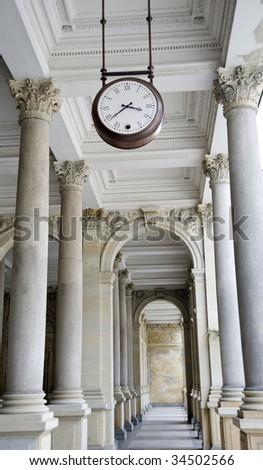 Carlsbad colonnade - stock photo