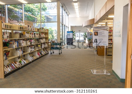 CARLSBAD LIBRARY, Aug 31, 2015; the Carlsbad library will be under renovation from Sept 1, 2015. It is expected to be reopened again in January next year. Carlsbad, California, USA - stock photo