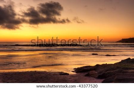 Carmel Beach Sunset - stock photo
