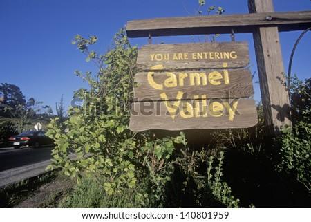 Carmel Valley Road, Route G20 in Carmel, California - stock photo