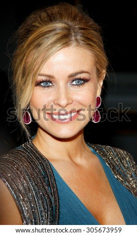 Carmen Electra at the 19th Annual Race To Erase MS held at the Hyatt Regency Century Plaza in Century City, USA on May 18, 2012. - stock photo