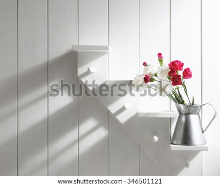 carnation flowers. red and white. - stock photo