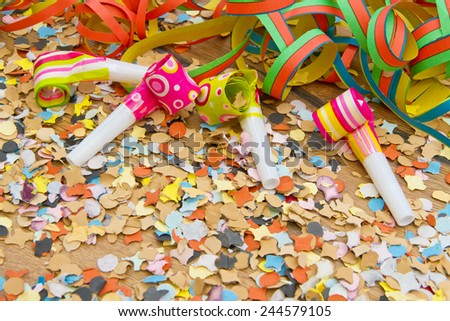 Carnival background with copy space - stock photo