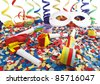 Carnival, celebration,party on the white - stock photo