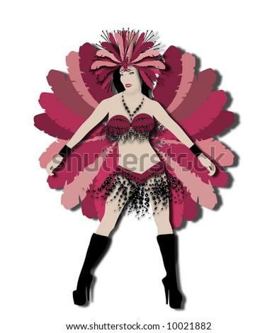 carnival dancer - stock photo