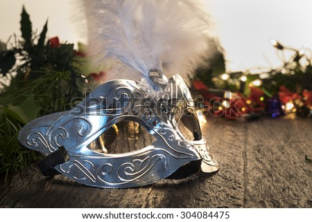 Carnival fancy mask - stock photo