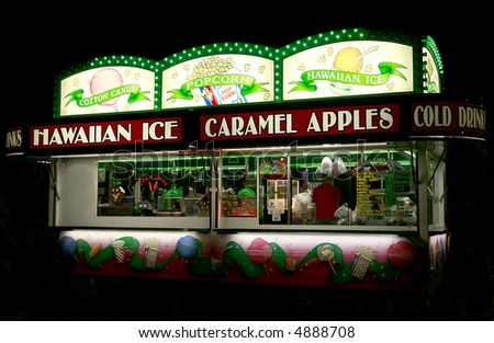 Carnival Food Stand - stock photo
