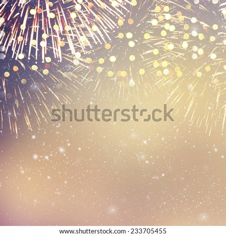Carnival mask and fireworks  - stock photo