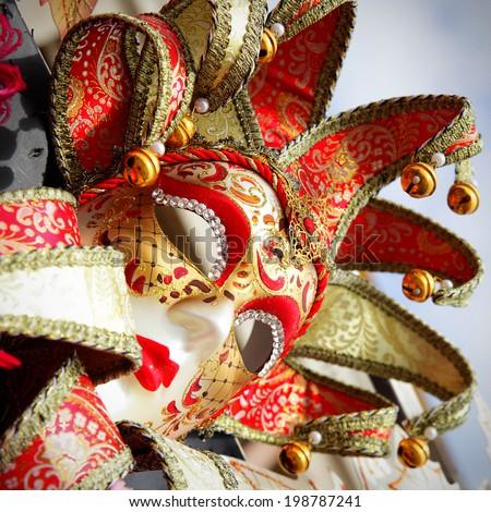 Carnival mask in Venice - stock photo