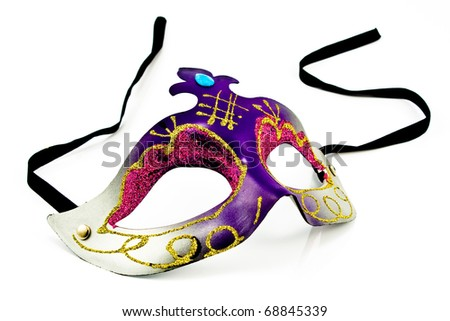 Carnival Mask isolated on white
