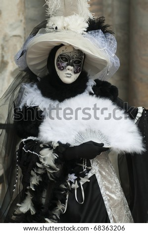 Carnival mask of Venice - stock photo