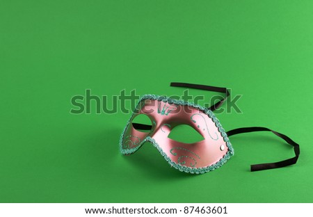 Carnival mask on a black background - stock photo
