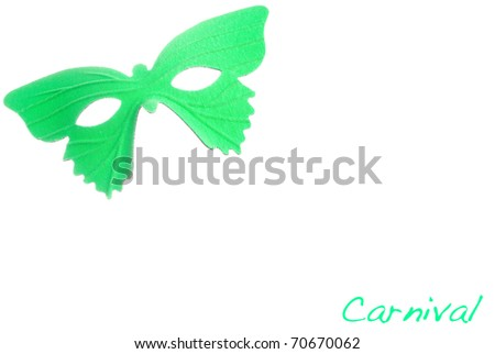 Carnival mask on a white background. - stock photo