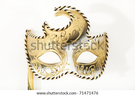 Carnival mask on a white background - stock photo