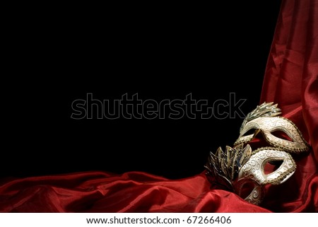 Carnival Mask on dark background - stock photo