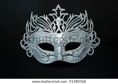 Carnival mask on the black background. - stock photo