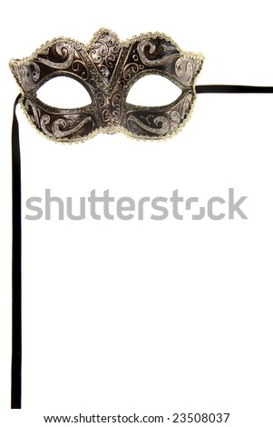 carnival mask over white background - stock photo