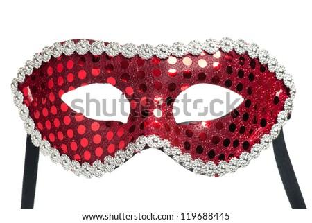 Carnival mask to celebration isolated on white background - stock photo