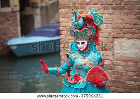 Carnival masks in Venice, Italy. - stock photo