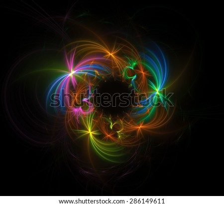 Carnival of Lights abstract illustration - stock photo