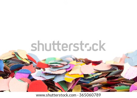 carnival party background with confetti