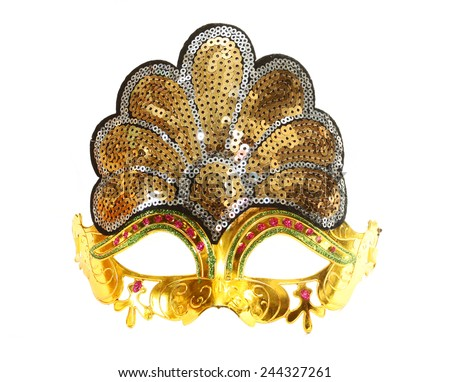 Carnival red venetian mask  - stock photo