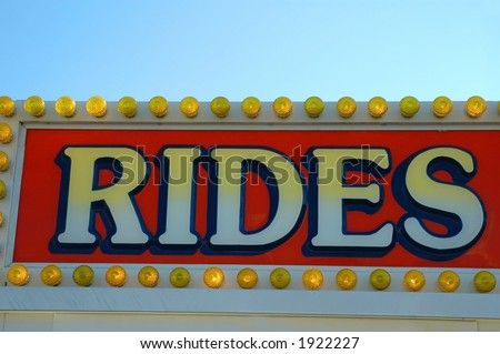 Carnival Rides Sign - stock photo
