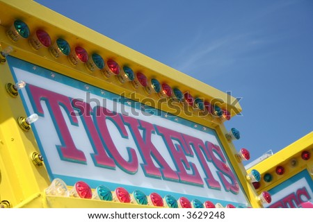 carnival ticket booth - stock photo