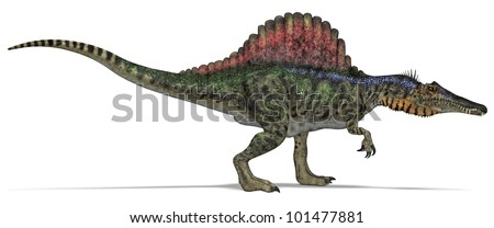Carnivorous Dinosaur from side - stock photo
