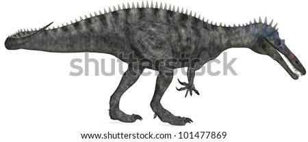 Carnivorous Dinosaur Hunting - stock photo