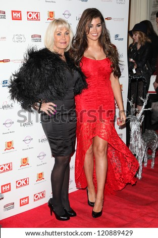 Carol and Jessica Wright arriving for the OK Magazine Christmas Party, Sway, London. 27/11/2012 Picture by: Alexandra Glenl