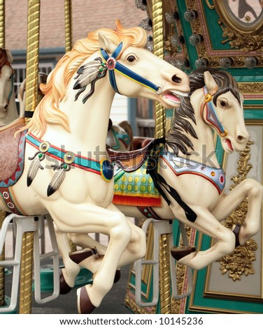 carousal horse - stock photo