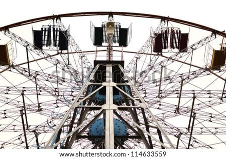 carousel against white - stock photo