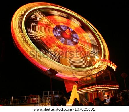 carousel at night - stock photo