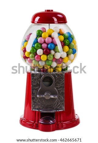 Carousel Gumball Machine Bank isolated on a white background