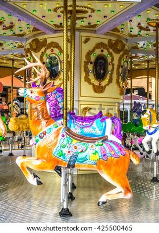 carousel horse - stock photo
