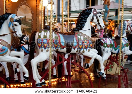 Carousel in Rome. Italy - stock photo