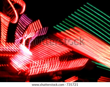 Carousel lights - stock photo