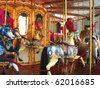 Carousel merry-go-round - stock photo